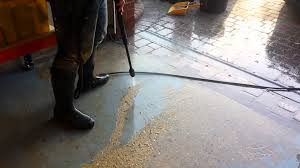 Removing Paint From Concrete Steps by Pressure Washing Paint From Garage Floor Youtube