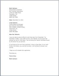 sample excuse letter u2013 free sample letters