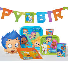 bubble guppies birthday party banner party supplies walmart