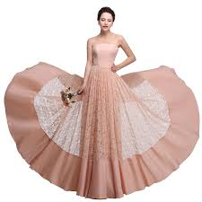 evening wedding bridesmaid dresses lace bridesmaid dresses cheap strapless pink coral bridesmaid