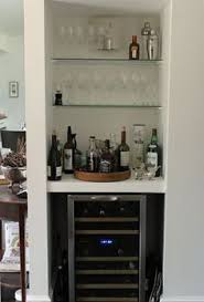 Bar Hutch Turning A Living Room Closet Into A Bar Totally Doing This