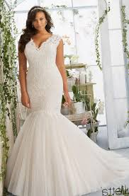 white plus size wedding dress pluslook eu collection