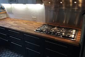 cuisine plan de travail bois massif rénovation de cuisine avec plan de travail en chêne par gérard