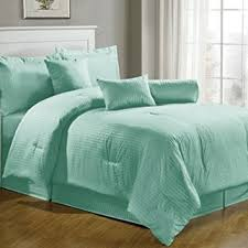 Green Bed Sets Chezmoi Collection 7 Pieces Hotel Dob From Bed Throughout
