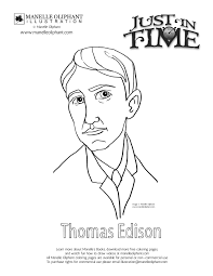 manelle oliphant u0027s blog free coloring page friday thomas edison