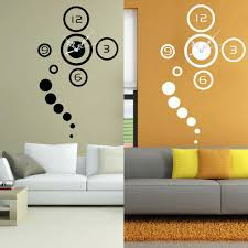 decorative mirrors bedroom wall amlvideo com diy 3d mirror surface pointed digital clock adhesive wall sticker modern home living room bedroom decoration