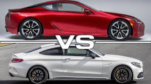 lexus lc coupe horsepower lexus lc 500 vs mercedes amg c63 s coupe youtube