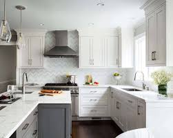 white cabinets with black countertops and backsplash 30 stylish and kitchens with light and contrasts