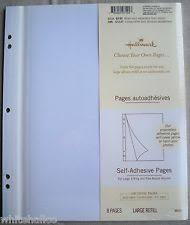 self adhesive photo album pages 3 pkgs hallmark medium album self adhesive ar1489 refills acid ebay