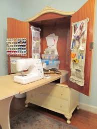 diy craft armoire with fold out table making monday marvelous 39 sewing cabinet armoires and homemaking