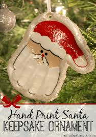 print santa keepsake ornament keepsakes santa and ornament