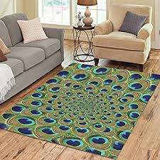 Peacock Area Rugs Nature Sweet Home Modern Collection Custom