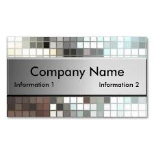 mosaic tile business cards make your own business card with this