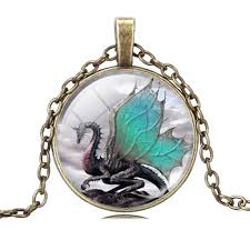 dragon jewelry necklace images Glass dragon pendant necklace galaxy teez shirts jewelry and jpg