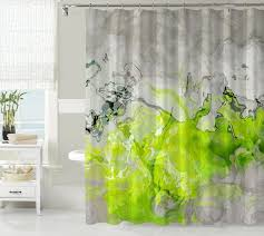 Silver And White Shower Curtain Purple Fabric Shower Curtains Ceramics Flooring Beside Glass