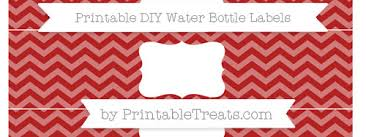 fire brick red chevron diy water bottle labels u2014 printable treats com