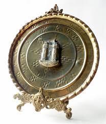 deco plaque metal vintage brass lancaster castle souvenir plaque circa 1930s 1950s
