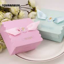 baby shower guest gifts new blue pink baby shower favors gifts candy boxes party gift box
