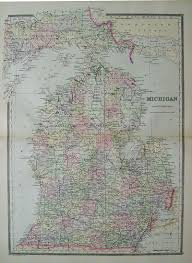 Map Of Northern Michigan by Prints Old U0026 Rare Michigan Page
