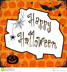 happy halloween card design template with pumpkin bat spider