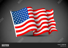 Usa Flag Vector Illustration Waving American Flag Vector U0026 Photo Bigstock
