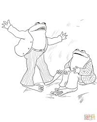 printable frog toad stories tales coloring books