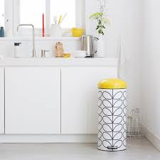 Brabantia Bathroom Accessories Buy Brabantia Orla Kiely Retro Pedal Bin Cream Linear Stem 30l