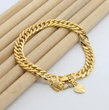 jewelry man gold bracelet images 24k 7 5mm men 39 s bracelet dahasakshops jpg