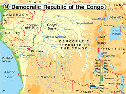 angola physical map democratic republic of the congo physical map by maps from