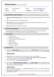 Sample Resume For Quality Control by Mirsad Alam Qa Qc Resume