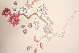 Cherry Blossom Upholstery Fabric The Textile Whisperer Style Indigo