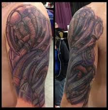 biomech half sleeve cover uphalf sleeve biomech cover up tattoos