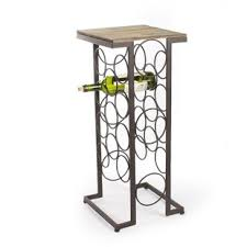 metal wine rack table modern contemporary wine rack console table allmodern