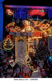 christmas decorations house england stock photos u0026 christmas