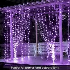 purple 300 led 3m curtain string lights wedding