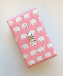 Pink Elephant Nursery Decor by Elephant Switchplate Pink And White Nursery Light Switch Plate