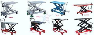 scissor lift tables are available in several tops sizes 888 661 0845
