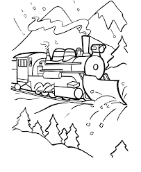 Train Engine Coloring Page 295478 Rail Color Page