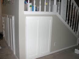half closet half desk excellent hidden office under stairs and built in desk under