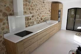 cuisine blanche et plan de travail bois enchanteur cuisine blanche plan de travail bois avec cuisine blanche