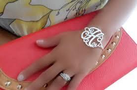 monogram initial bracelet groopdealz monogram initial bracelets in gold or silver