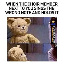 Choir Memes - when the choir member sings the wrong note church of laugh