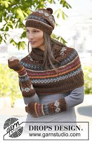 drops design poncho autumn drops 143 28 free knitting patterns by drops design