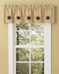 carrington lined ticking patch valance park designs pretty windows