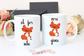 zero fox given and fox sake coffee mug set coffee mugs