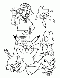 pikachu with friends coloring pages for kids pokemon characters