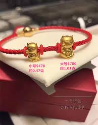 gold lucky bracelet images New hong kong chow tai fook counter genuine 999 gold gold lucky jpg
