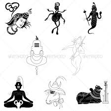 hindu lord shiva religious vector designs pack by vecras