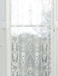 Lace Trim Curtains Curtains With Lace Trim Vintage Lace Curtain Panels Woven On Year