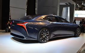 lexus lf fc lexus lf lc hydrogen now equals luxury 3 4